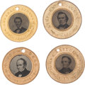 Political:Ferrotypes / Photo Badges (pre-1896), Abraham Lincoln, Stephen A. Douglas, John C. Breckinridge and JohnBell: A Superb Matched Set of Ferrotypes for the Four 1860 ...(Total: 4 Items)