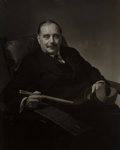 Photographs, Edward Steichen (American, 1879-1973). H.G. Wells for Vanity Fair, 1931. Gelatin silver. 9-1/2 x 7-1/2 inches (24.1 x 19...
