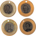 Political:Ferrotypes / Photo Badges (pre-1896), Abraham Lincoln, Stephen A. Douglas, John C. Breckinridge and JohnBell: An Almost Certainly Unique Matched Set of 1860 Ferrot...(Total: 4 Items)