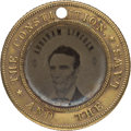 Political:Ferrotypes / Photo Badges (pre-1896), Abraham Lincoln & Hannibal Hamlin: Back-to-Back Ferrotype....