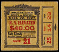 """Boxing Collectibles:Memorabilia, 1927 Jack Dempsey vs. Gene Tunney """"Long Count"""" Bout Ticket Stub. ..."""