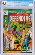 Bronze Age (1970-1979):Superhero, Marvel Feature #1 The Defenders (Marvel, 1971) CGC NM 9.4 Off-white to white pages....
