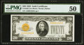Small Size:Gold Certificates, Fr. 2402 $20 1928 Gold Certificate. PMG About Uncirculated 50.. ...