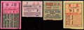 Baseball Collectibles:Tickets, 1935-39 Baseball All-Star Game Ticket Stub Quartet (4). ...