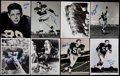 Football Collectibles:Photos, 1960's Green Bay Packers Great Signed Photograph Collection (33)....