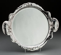 A Reed & Barton Art Nouveau Silver Tray, Taunton, Massachusetts, early 20th century Marks: (eagle-R-lion), STER