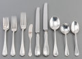 Silver Flatware, American:Tiffany, A One Hundred and Eight-Piece Tiffany & Co. FlemishPattern Silver Flatware Service, New York, designed 1911, ma...(Total: 108 Items)