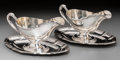 Silver Holloware, Continental:Holloware, A Pair of Lazarus Posen Witwe Silver Sauce Boats, Berlin &Frankfurt, Germany, post-1886. Marks: POSEN, 925, M. 4-1/2 h... (Total: 2 Items)