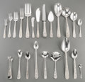 Silver Flatware, American:Steiff, A One Hundred and Fifty-Piece S. Kirk & Son & StieffRepoussé Pattern Silver Flatware Service, Baltimore,Maryla... (Total: 150 Items)