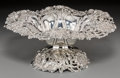 Silver & Vertu:Hollowware, A Theodore B. Starr Reticulated Silver Compote with Poppy Motif, New York, circa 1900. Marks: (griffin-S), THEODORE B. STA...