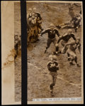 Football Collectibles:Photos, 1938 Don Hutson in the NFL Championship Game Original Press Photograph....