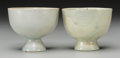 Asian:Chinese, A Pair of Chinese Qingbai Ware Cups. 2-3/8 h x 2-7/8 d inches (6.0x 7.3 cm). ... (Total: 2 Items)