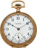 Timepieces:Pocket (post 1900), Waltham Order of Railroad Telegraphers 14k Gold Presentation Watch,circa 1911. ...