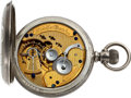 Timepieces:Pocket (pre 1900) , Elgin Unique Special Finish Convertible Employee's Watch, circa1879. ...