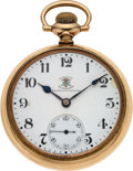 Timepieces:Pocket (post 1900), Ball, Hamilton Brotherhood of Railroad Trainmen Grade 999 19Jewels, circa 1910. ...