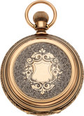 Timepieces:Pocket (pre 1900) , Elgin Rare 14k Gold 21 Jewel Convertible, circa 1879. ...