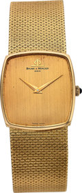 Timepieces:Wristwatch, Baume & Mercier Gent's Gold Wristwatch, circa 1980. ...
