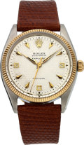 Timepieces:Wristwatch, Rolex Ref. 5501 Explorer Honeycomb Dial Oyster Perpetual Precision,circa 1959. ...