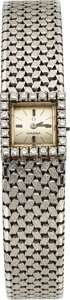 Timepieces:Wristwatch, Omega Lady's 18k White Gold & Diamond Watch. ...