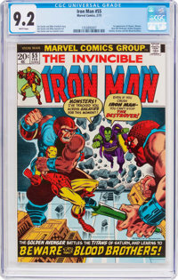 Iron Man #55 (Marvel, 1973) CGC NM- 9.2 White pages