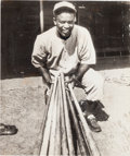Baseball Collectibles:Photos, 1946 Jackie Robinson Montreal Royals Original Wire Photogr...
