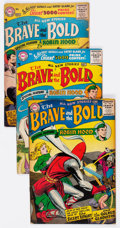 Golden Age (1938-1955):Miscellaneous, The Brave and the Bold #6-10 Group (DC, 1956-57) Condition: Average VG.... (Total: 5 Comic Books)