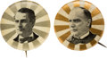 Political:Pinback Buttons (1896-present), William McKinley and William Jennings Bryan: Rays of the Sun Picture Pins....