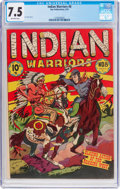 Golden Age (1938-1955):Western, Indian Warriors #8 (Star Publications, 1951) CGC VF- 7.5 Off-whitepages....