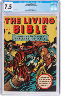 Golden Age (1938-1955):Religious, Living Bible #1 (Living Bible Corp., 1945) CGC VF- 7.5 Off-white pages....