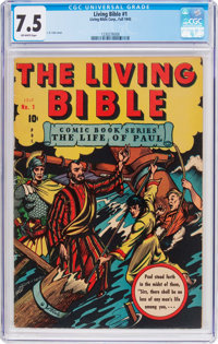 Living Bible #1 (Living Bible Corp., 1945) CGC VF- 7.5 Off-white pages