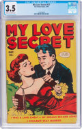 Golden Age (1938-1955):Romance, My Love Secret #27 (Fox Features Syndicate, 1949) CGC VG- 3.5 Creamto off-white pages....