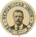 """Political:Pinback Buttons (1896-present), Theodore Roosevelt: """"Republican Union"""" Picture Pin...."""