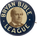 """Political:Pinback Buttons (1896-present), William Jennings Bryan: A Great 7/8"""" Celluloid Dating from the Famous 1925 Scopes Trial. ..."""