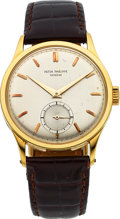 Timepieces:Wristwatch, Patek Philippe Ref. 570 Large Yellow Gold Calatrava, circa 1955. ...