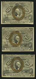 Fractional Currency:Second Issue, Fr. 1244 10¢ Second Issue Three Examples Very Fine.. ... (Total: 3 notes)