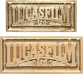 """Movie Posters:Science Fiction, Lucasfilm Belt Buckles (Lucasfilm, Early 1980s). Employee GiftedBelt Buckles (2) (3"""" X 1.5"""", 2.75"""" X 1.25"""").. ... (Total: 2 Items)"""