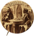 """Political:Pinback Buttons (1896-present), Theodore Roosevelt: The Largest Size of the Classic """"Equality"""" Button. ..."""