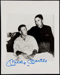 Autographs:Photos, Mickey Mantle Signed 8x10 Photograph. ...