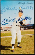 Autographs:Post Cards, Signed 1953 Dormand Mickey Mantle Postcard. ...