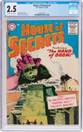 Silver Age (1956-1969):Horror, House of Secrets #1 (DC, 1956) CGC GD+ 2.5 Off-white to whitepages....