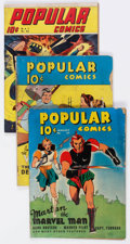 Golden Age (1938-1955):Miscellaneous, Popular Comics Group of 13 (Dell, 1938-47) Condition: Average GD-.... (Total: 13 Comic Books)