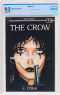 Modern Age (1980-Present):Alternative/Underground, The Crow #1 (Caliber Press, 1989) CBCS NM- 9.2 Off-white to whitepages....