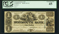 Obsoletes By State:New Jersey, Freehold, NJ- Monmouth Bank (2nd) $1 Aug. 1, 1840 G2. ...