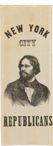 Political:Ribbons & Badges, John C. Frémont: A Rare 1856 Silk Campaign Ribbon from New York City....