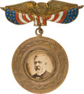 Political:Ferrotypes / Photo Badges (pre-1896), James G. Blaine: A Striking Large 1884 Photo Badge. ...