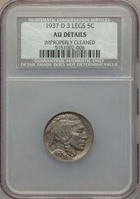1937-D 5C Three-Legged -- Improperly Cleaned -- NCS. AU Details. NGC Census: (0/0). PCGS Population: (640/3606). CDN: $...