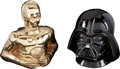 "Movie Posters:Science Fiction, Star Wars: Darth Vader & C-3PO Banks (Roman Ceramics, 1977).Ceramic Coin Banks (3) (6.5"" X 6.5"" & 7.25"" X 8"") with One inO... (Total: 3 Items)"