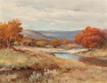Paintings, Robert William Wood (American, 1889-1979). Scarlet Hills. Oil on canvas. 28 x 36 inches (71.1 x 91.4 cm). Signed lower r...