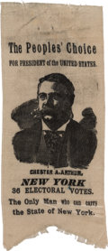 """Political:Ribbons & Badges, Chester A. Arthur: A Unique and Highly Important """"Hopeful"""" Ribbon. ..."""