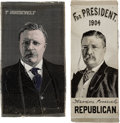 Political:Ribbons & Badges, Theodore Roosevelt: Woven Silk Ribbons.... (Total: 2 Items)